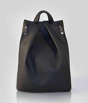 Стильный черный женский рюкзак код 9-25