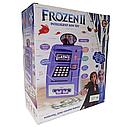 Детский сейф банкомат с отпечатком пальца и кодовым замком Frozen Фроузен на английском, фото 2