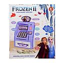 Детский сейф банкомат с отпечатком пальца и кодовым замком Frozen Фроузен на английском, фото 3