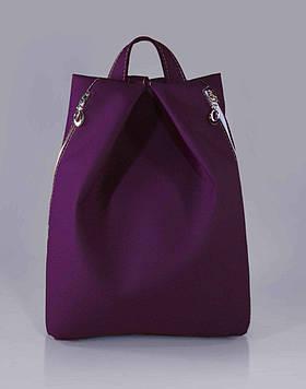 Стильний фіолетовий жіночий рюкзак код 9-25