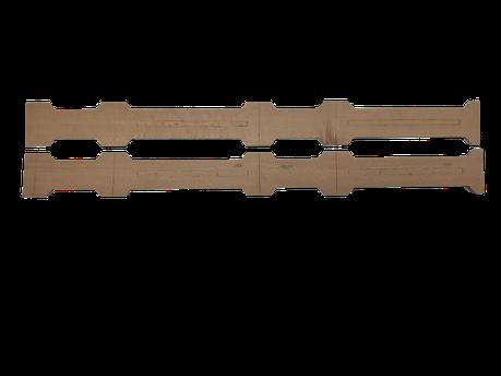 Рамка мини для сотового меда 66х125х28 мм из бука (под верх 10 мм), фото 2
