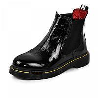 Ботинок  Лори  черный  лак