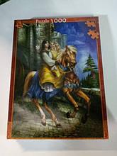 Уценка Пазл 1000 деталей Принц с принцессой 47,5х68 см , арт. 0433-7 Danko Toys
