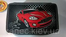 """Пенал CLASS """"Red Car"""", 3 отделения, черный с красным, без наполнения, 95064"""