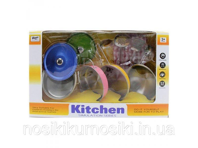 Набор цветной игровой металлической посуды Doris Kitchen - 11 предметов