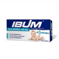 Свечи от температуры суппозитории для детей Ibum ибупрофен 10шт. Европа, ибупром