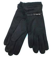 Перчатки замшевые на плотном меху Anjela размер 7,5 черные