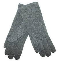 Перчатки трикотажные на флисе сенсорные размер 8.5 темно-серые