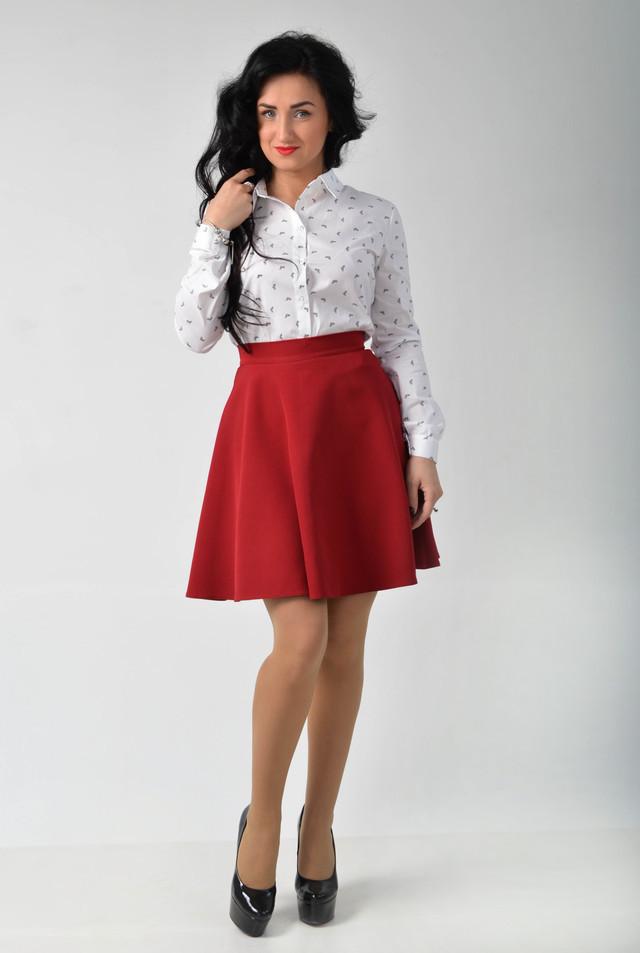 Стильная юбка полусолнцеклеш