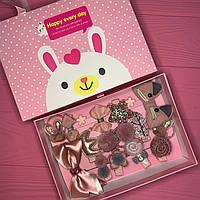Набір дитячих аксесуарів для волосся з 17 предметів в подарунковій коробці SKL11-277641