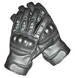 Перчатки кожаные тактические Mil Tec Sturm (Германия), черные, фото 6