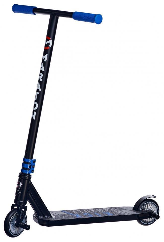 Трюковый самокат Dexter HIC с прочной рамой и пегами (Синий)