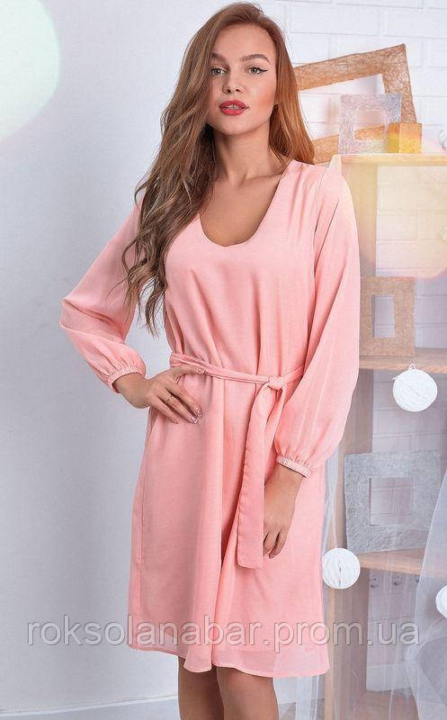 Легке шифонове плаття пудрового кольору