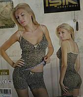 Пижамка леопард вискоза с шортиками