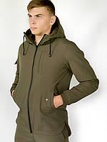 Мужская куртка Softshell хаки демисезонная Intruder. + Брендовая Ключница в подарок