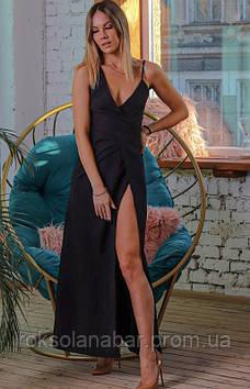 Сукня жіноча чорного кольору з високим розрізом