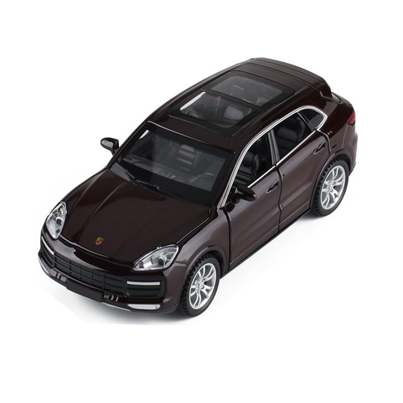 Модель автомобиля Porsche Cayenne. Металлическая машинка, инерционная машинка Порш Кайен черный 1:32