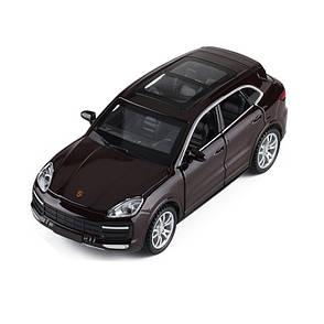 Модель автомобиля Porsche Cayenne. Металлическая машинка, инерционная машинка Порш Кайен черный 1:32, фото 2