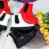 Ультра модные удобные черные женские ботинки челси по доступной цене, фото 4