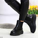Ультра модные удобные черные женские ботинки челси по доступной цене, фото 5