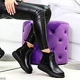 Ультра модные удобные черные женские ботинки челси по доступной цене, фото 6