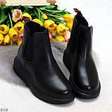 Ультра модные удобные черные женские ботинки челси по доступной цене, фото 7