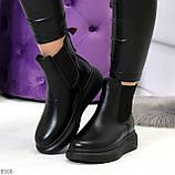 Ультра модные удобные черные женские ботинки челси по доступной цене, фото 8