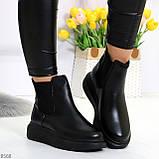 Ультра модные удобные черные женские ботинки челси по доступной цене, фото 9