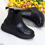 Ультра модные удобные черные женские ботинки челси по доступной цене, фото 10