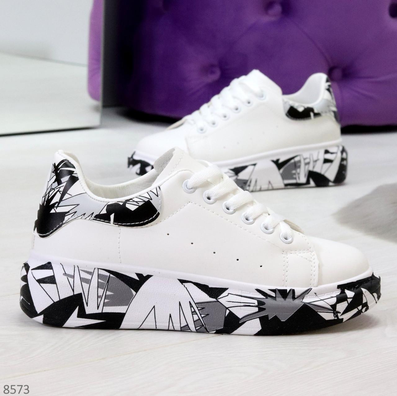 Модельные трендовые белые женские кроссовки кеды крипперы в стиле гранж