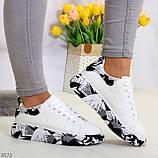 Модельные трендовые белые женские кроссовки кеды крипперы в стиле гранж, фото 3