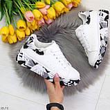 Модельные трендовые белые женские кроссовки кеды крипперы в стиле гранж, фото 5