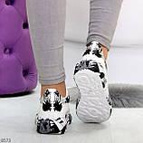 Модельные трендовые белые женские кроссовки кеды крипперы в стиле гранж, фото 6