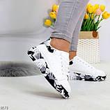 Модельные трендовые белые женские кроссовки кеды крипперы в стиле гранж, фото 8