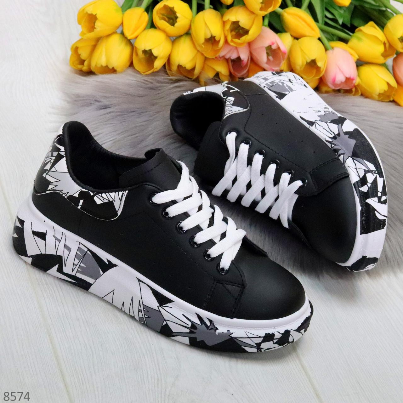 Модельные трендовые черные женские кроссовки кеды крипперы в стиле гранж
