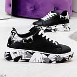 Модельные трендовые черные женские кроссовки кеды крипперы в стиле гранж, фото 2
