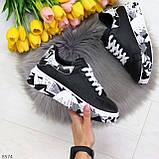 Модельные трендовые черные женские кроссовки кеды крипперы в стиле гранж, фото 7