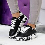 Модельные трендовые черные женские кроссовки кеды крипперы в стиле гранж, фото 10