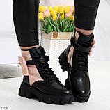 Трендовые люксовые женские черные розовые ботинки с сумочками кошельками кармашками, фото 9