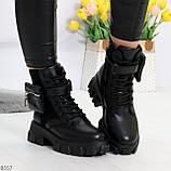 Трендовые люксовые женские черные ботинки с сумочками кошельками кармашками, фото 3
