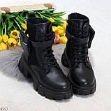Трендовые люксовые женские черные ботинки с сумочками кошельками кармашками, фото 6