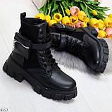 Трендовые люксовые женские черные ботинки с сумочками кошельками кармашками, фото 8