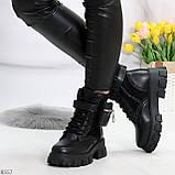 Трендовые люксовые женские черные ботинки с сумочками кошельками кармашками, фото 10