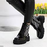 Эффектные черные женские лаковые глянцевые ботинки челси, фото 2
