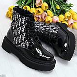 Эффектные черные женские лаковые глянцевые ботинки челси, фото 7