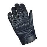 Перчатки кожаные тактические Mil Tec Sturm (Германия), черные, фото 2