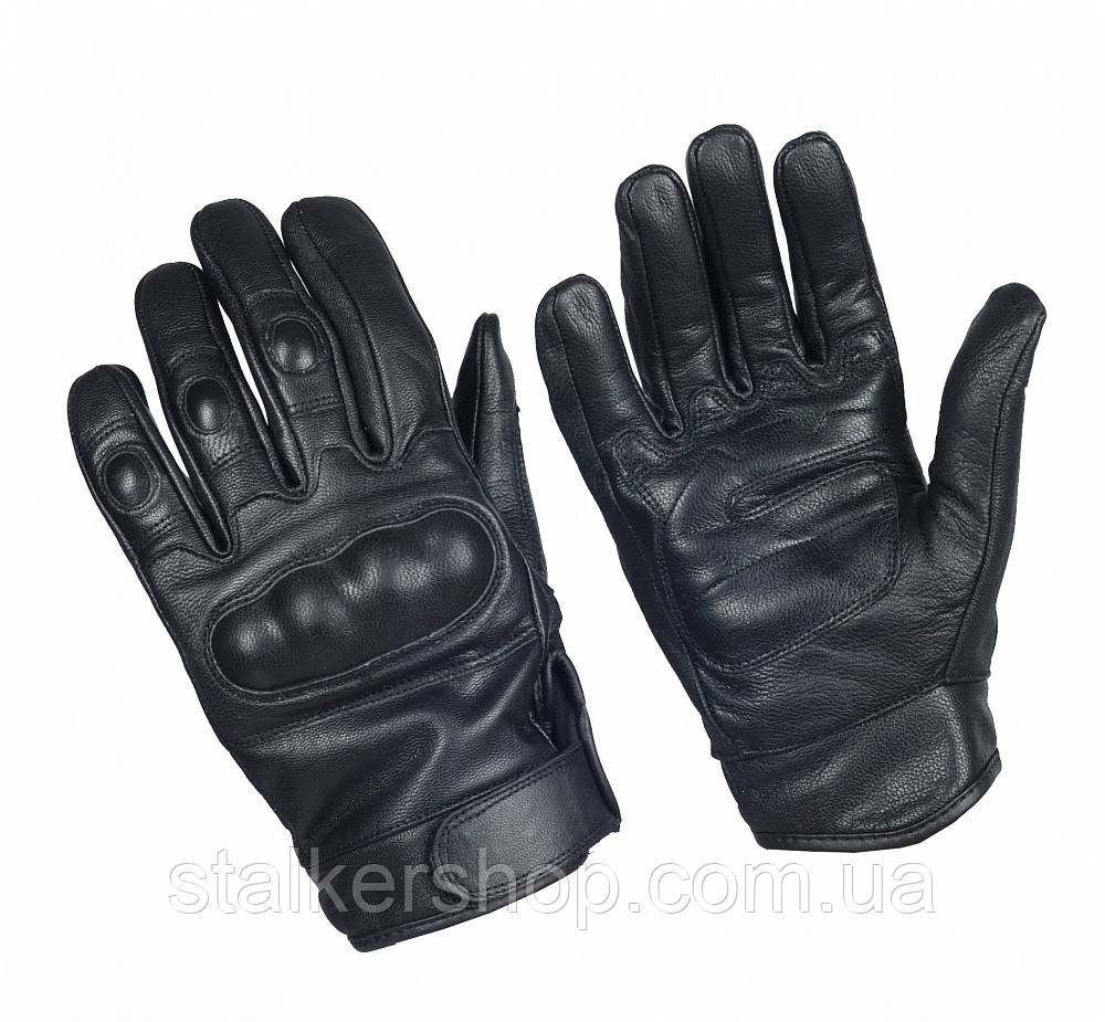 Перчатки кожаные тактические Mil Tec Sturm (Германия), черные