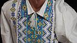 """Вышиванка """"Виктор"""" на домотканом полотне, ворот 37-46, 1150\950 (цена за 1 шт. + 200 гр.), фото 4"""