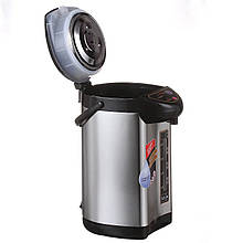 Термопот электрический Domotec MS-6000 электротермос  (металлик) большой электро термос-чайник на 6 литров