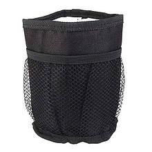 Подстаканник для детской коляски, термоподстаканник Stroller Bottle Pocket, мягкий, чёрный